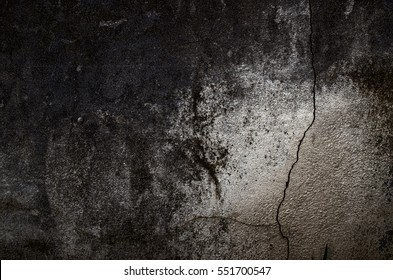 Fragment of old grungy texture with chipped paint and cracks or grey pattern