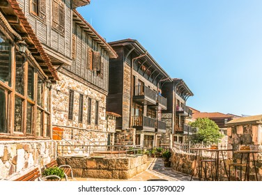 Fragment of the old town of Sozopol, Bulgaria.