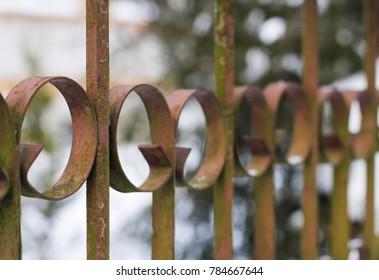fragment of an ornamental gate