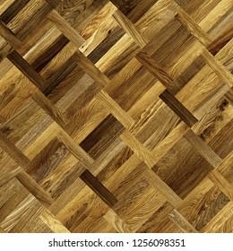 Fragment of parquet floor.