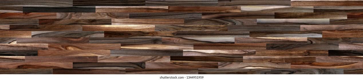 Fragment of parquet floor. Walnut.