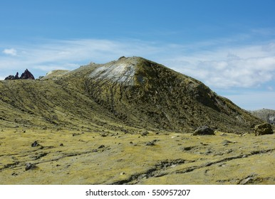 Fragment photo of landscape in White Island, New Zealand. Active volcano in New Zealand, White island