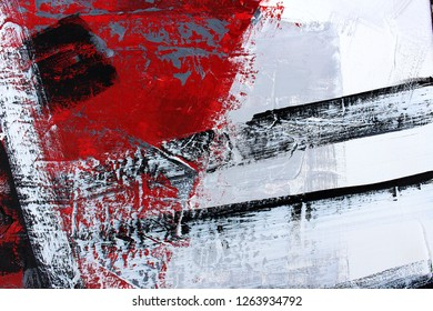 fragment of the picture, abstraction oil paint on canvas