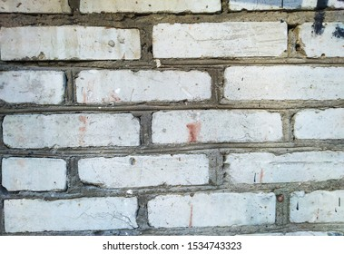 fragment of real old brickwork.close-up.abstract background for your design