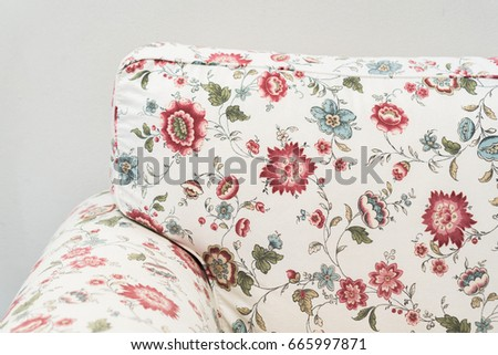 Fragment Sofa Upholstery Fabric Colorful Retro Stock Photo Edit Now