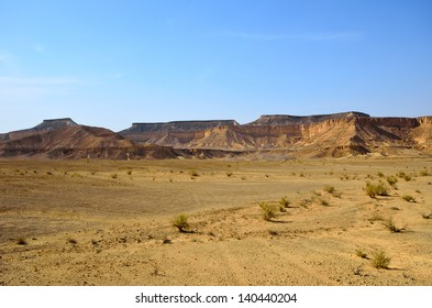 Fragment of the southern stretch of the Arabah(Arava), Israel.