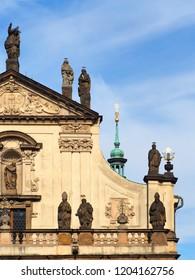 Fragment of St. Salvator Church, Klementinum, Old Town, Prague, Czech Republic