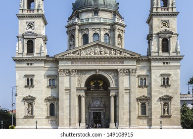 Fragment of St. Stephen's Basilica (1905) - Roman Catholic basilica in Budapest, Hungary. It is named in honor of Stephen - first King of Hungary, this is most important church building in Hungary.