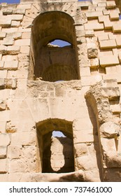 fragment with two windows in Colosseum, El-Jem Tunisia