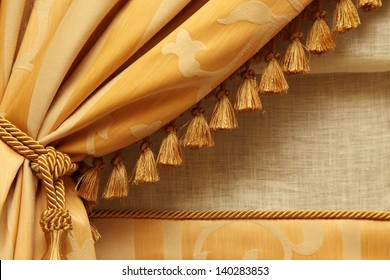 fragment yellow fringed curtains