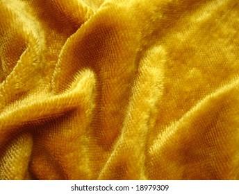 fragment of   yellow      plush