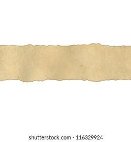 Fragmentary Old Vintage Paper Borders