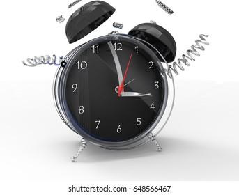 Fragmented clock or crazy clock 3D
