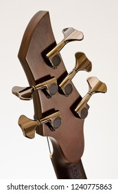 Fragments of the body of an electric guitar made of wood.