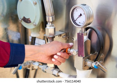 Fragments of gas processing equipment. Natural-gas processing plants purify raw natural gas by removing common contaminants such as water, carbon dioxide and hydrogen sulfide.