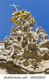 Fragments of the Plague Column in Vienna, Austria, Europe