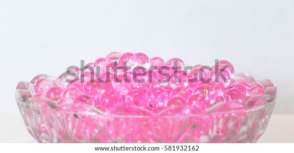 Fragrant pink balls in macro