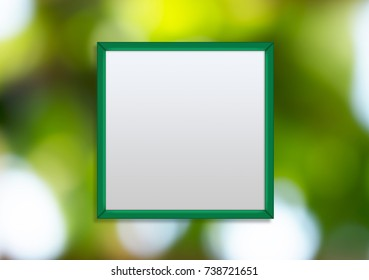 Frame art work square center of image blur bokeh background illustration copy space