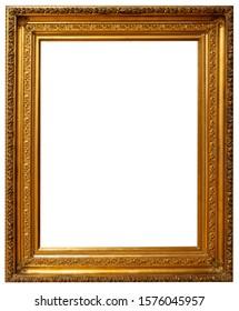 Frame baguette isolated decor gold vintage interior