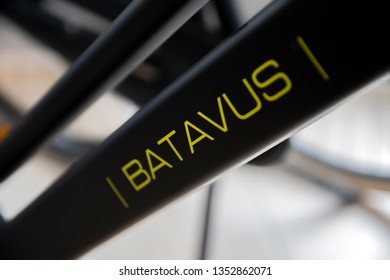 Frame Of A Batavus Bicycle At Amsterdam The Netherlands 2019