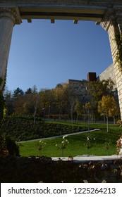 frame castle garden rose mountain
