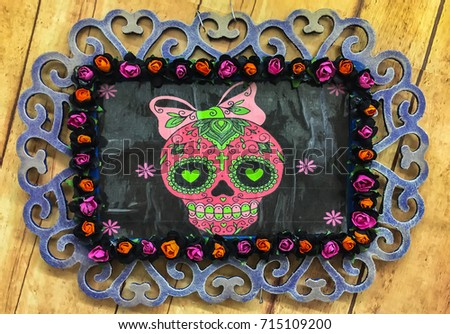 Frame Dia De Muertos Stock Photo Edit Now 715109200 Shutterstock