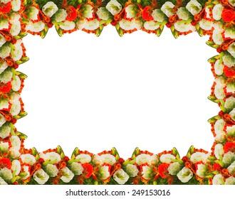 frame of flowers roses