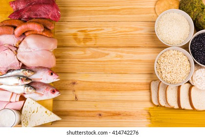Frame food made with protein and carbohydrates