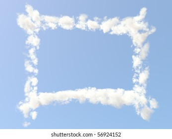 Frame formed from clouds
