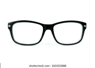 Frame glasses on white background