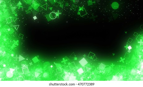 frame of glitter particles