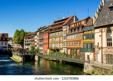 Frame houses in Petite France in Strasbourg (France)