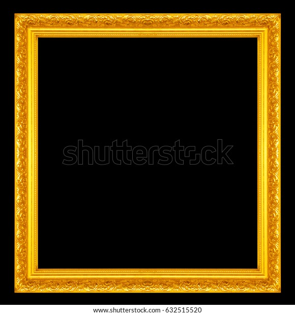Frame isolated on a black background.