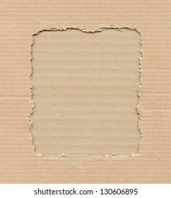 Frame made of corrugate cardboard