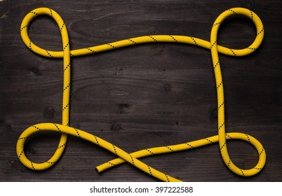 frame made of loops of climbing rope