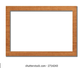 frame from a natural tree on white background