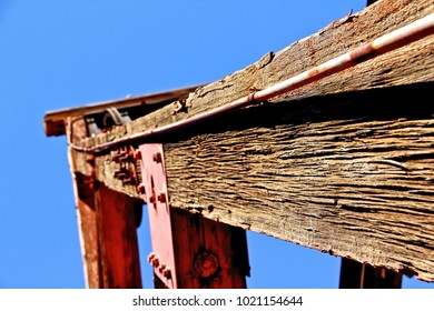 frame of an oil well in Jerome Arizona