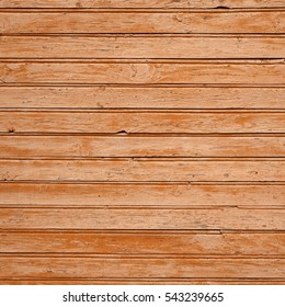Frame Old Barn Wood Background. Brown Red Wooden Square Texture. Timber Isolated Wallpaper. Timber Hardwood Outdoor Horizontal Vertical Signboard Or Billboard With Copy Space. Shabby Paint Pine Panel
