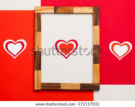 Frame On February 14 Valentines Day Stock Photo Edit Now 572117032