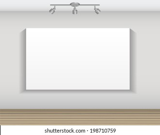 Frame on Wall for Your Text and Images,  Illustration.