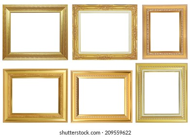 frame on the white background