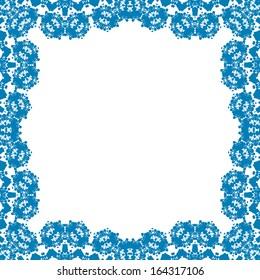 Frame ornament vintage floral design, raster graphics.