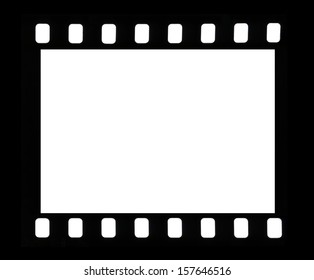 Frame of a photofilm shot on a white background