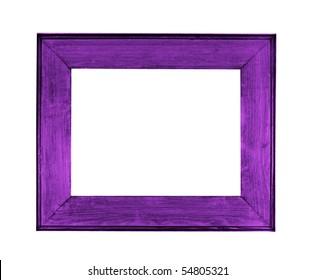 frame picture purple over white