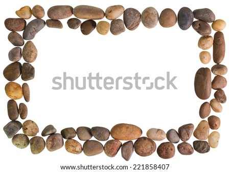 Frame Rocks On Clear White Background Stock Photo (Edit Now ...