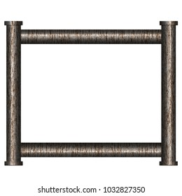 Frame from rusty metal pipes. Illustration