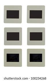 frame for slide isolated on white background