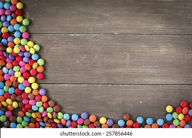 Frame from smarties, wood