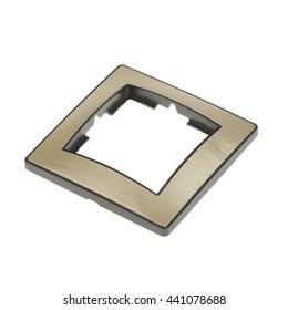Frame socket on white background