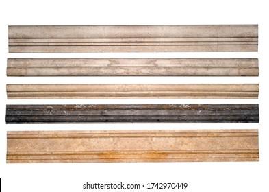Frame stone marble border lines decorative